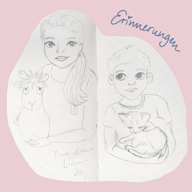 art journaling  illustrativer Stil  gemalte Erinnerungen
